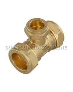 22mm x 22mm 15mm  Compression Tee Flowflex