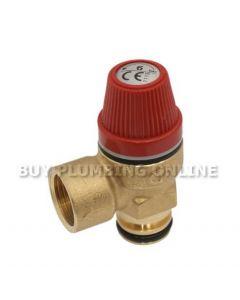 Altecnic Caleffi Pressure Relief Valve 1/2 6 Bar 312007
