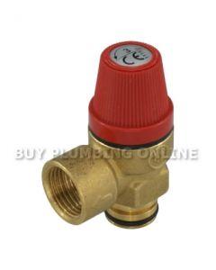 Altecnic Caleffi Pressure Relief Valve 3 Bar 312404 1/2