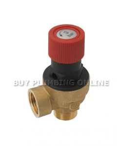 Altecnic Caleffi Safety Relief Valve 1/2 3 Bar 514430 CST