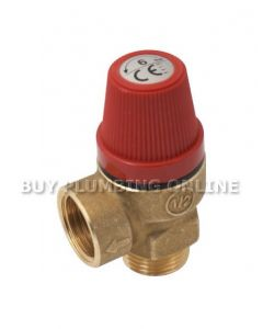 Altecnic Caleffi Safety Relief Valve 1/2 6 Bar 312460
