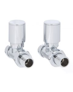 Altecnic Modern Straight Polished Radiator Valves Chrome