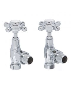 Altecnic Traditional Cross Head Radiator Valves Chrome