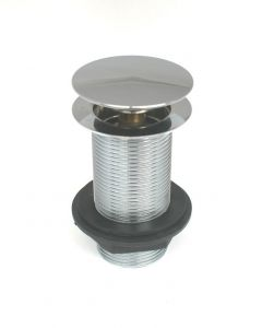 Basin Grating Push Button Unslotted Chrome EK304