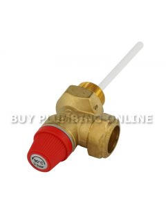 Caleffi Temperature & Pressure Relief Valve 3/4 3 Bar 90c 309530