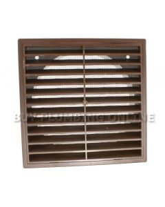 Domus Louvre Grille With Flyscreen Brown 150mm F6904B