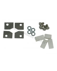 Dunsley Highlander Stove Glass Retainer Tabs with Screws 02032