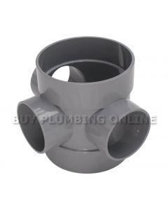 Floplast 110mm Soil Short Boss Pipe Grey SP583