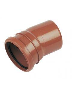 Floplast 110mm Underground Bend Single Socket 15° D167