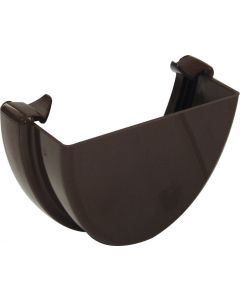 Floplast 115mm Hi-Cap Gutter Stop End External Brown REH1BR