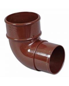 Floplast 68mm 92.5° Round Down Pipe Bend Brown