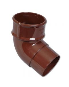 Floplast 68mm 112° Offset Down Pipe Bend Brown