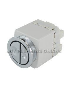 Geberit 241.413.21.1 Pneumatic Dual Flush Button