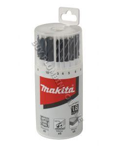 Makita Mixed Drill Bit Set 18pc P-23818