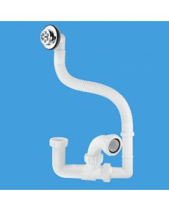 McAlpine 1.5 Bath Trap with Flexible Overflow FJ10