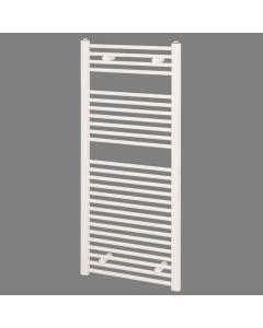 Reina Diva Straight Towel Rail, 1200mm High x 500mm Wide, White