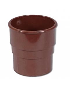 Floplast 68mm Down Pipe Socket Brown