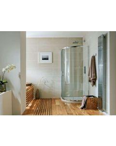 S6 900 x 760mm Single Door Offset Quadrant  Enclosure