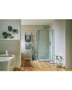 S6 800mm Pivot Shower Door