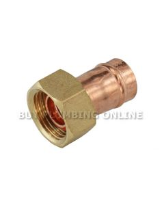 Solder Ring Str Tap Connector 15mm x 1/2 (Pack of 5)