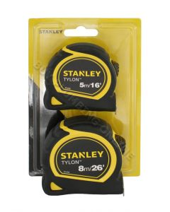 Stanley Tylon Pocket Tapes Twin Pack 5m & 8m