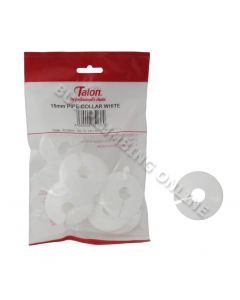 Talon 15mm Pipe Collar White Pack of 10 PCW15