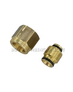 Uponor Compression Adaptor 16mm x 1/2 / 15mm 1013806