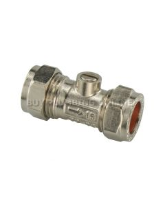 15mm Isolating Valve Chrome