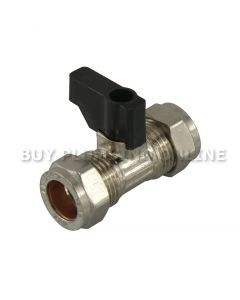 15mm Lever Isolating Valve Chrome