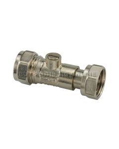15mm x 1/2  Isolating Service Valve Chrome