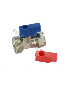 15mm x 3/4 Str Washing Machine Valve