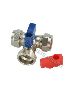 15mm x 3/4 Tee Washing Machine Valve