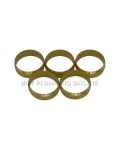 22mm Brass Olives (Pack of 5)