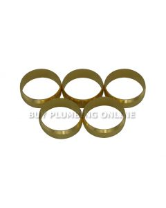 22mm Brass Olives (Pack of 5)