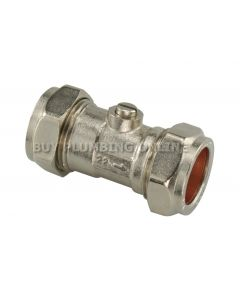 22mm Isolating Valve Chrome