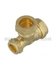 22mm x 15mm 22mm  Compression Tee Flowflex