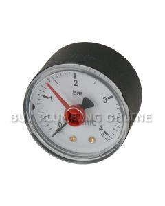 Altecnic Pressure Gauge 1/4 Back Connection 0-4 Bar 557104