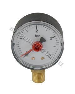 Altecnic Pressure Gauge 1/4 Bottom Connection 0-4 Bar 557304