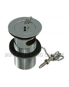 Basin Waste  Plug & Chain Chrome Plug