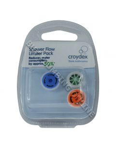 Croydex Shower Flow Limiter Pack 6 Ltr, 8 Ltr, 10 Ltr AM164641