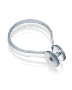 Croydex Shower Curtain Rings Button Clear ( Pack of 12) AK142232