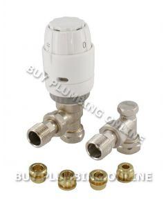 Danfoss RAS-C2 10mm Trv & Locksheld White/nickel 013G6006
