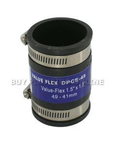 Deks Value Flex Pipe Connector 49mm - 41mm DPCE-49