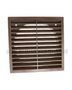 "Domus Louvre Grille With Flyscreen Brown 150mm (6"") F6904B"