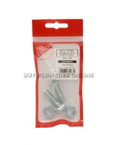 Metric H/T Set Screw with Nut 10 x 30 (2) 1030SNZP