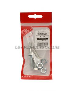 Timco Metric H/T Set Screw with Nut 8 x 25 (4) 825SNZP