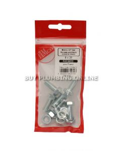 Timco Metric H/T Set Screw with Nut 8 x 20 (6) 820SNZP