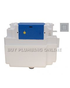 Dudley Vantage Insulated Concealed Single Flush Cistern +Piazza Button 325287