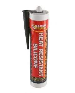Everbuild Heat Resistant Black Silicone 300°C