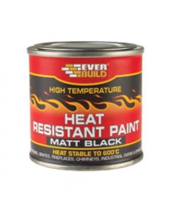 Everbuild Heat Resistant Paint Matt Black 125ml